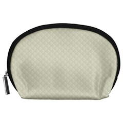 Rich Cream Stitched and Quilted Pattern Accessory Pouches (Large)