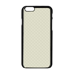 Rich Cream Stitched and Quilted Pattern Apple iPhone 6/6S Black Enamel Case