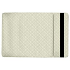 Rich Cream Stitched and Quilted Pattern iPad Air 2 Flip