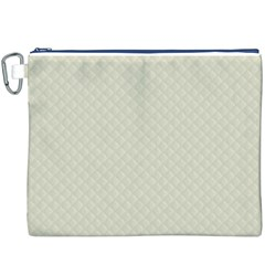 Rich Cream Stitched and Quilted Pattern Canvas Cosmetic Bag (XXXL)