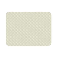 Rich Cream Stitched and Quilted Pattern Double Sided Flano Blanket (Mini)