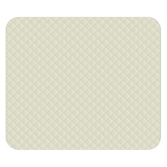 Rich Cream Stitched and Quilted Pattern Double Sided Flano Blanket (Small)