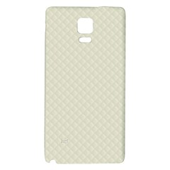 Rich Cream Stitched and Quilted Pattern Galaxy Note 4 Back Case