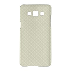Rich Cream Stitched and Quilted Pattern Samsung Galaxy A5 Hardshell Case