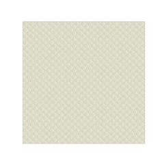 Rich Cream Stitched and Quilted Pattern Small Satin Scarf (Square)