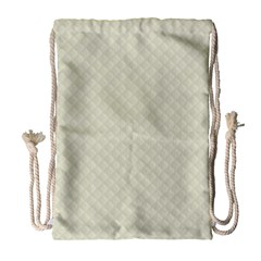 Rich Cream Stitched and Quilted Pattern Drawstring Bag (Large)