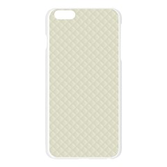 Rich Cream Stitched and Quilted Pattern Apple Seamless iPhone 6 Plus/6S Plus Case (Transparent)