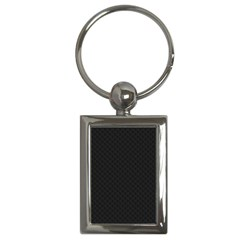 Sleek Black Stitched and Quilted Pattern Key Chains (Rectangle)
