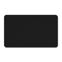 Sleek Black Stitched and Quilted Pattern Magnet (Rectangular)
