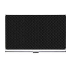 Sleek Black Stitched and Quilted Pattern Business Card Holders