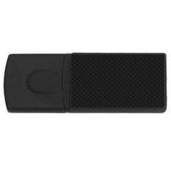 Sleek Black Stitched and Quilted Pattern USB Flash Drive Rectangular (1 GB)