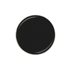 Sleek Black Stitched and Quilted Pattern Hat Clip Ball Marker (4 pack)
