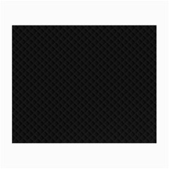 Sleek Black Stitched and Quilted Pattern Small Glasses Cloth