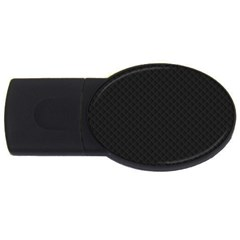 Sleek Black Stitched and Quilted Pattern USB Flash Drive Oval (4 GB)