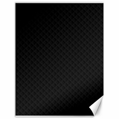 Sleek Black Stitched and Quilted Pattern Canvas 12  x 16