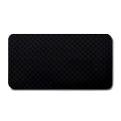 Sleek Black Stitched and Quilted Pattern Medium Bar Mats