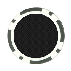 Sleek Black Stitched and Quilted Pattern Poker Chip Card Guard