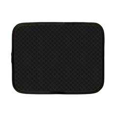 Sleek Black Stitched and Quilted Pattern Netbook Case (Small)