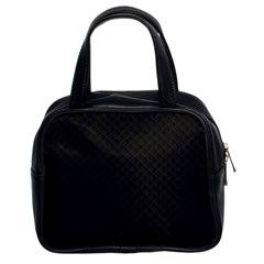 Sleek Black Stitched and Quilted Pattern Classic Handbags (2 Sides)