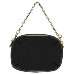Sleek Black Stitched and Quilted Pattern Chain Purses (Two Sides)