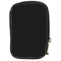 Sleek Black Stitched and Quilted Pattern Compact Camera Cases