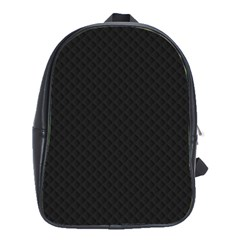 Sleek Black Stitched and Quilted Pattern School Bags(Large)