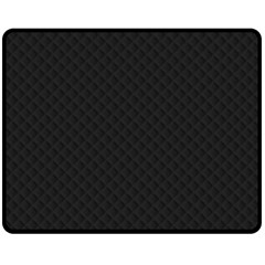 Sleek Black Stitched and Quilted Pattern Fleece Blanket (Medium)