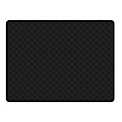 Sleek Black Stitched and Quilted Pattern Fleece Blanket (Small)