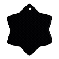 Sleek Black Stitched and Quilted Pattern Ornament (Snowflake)