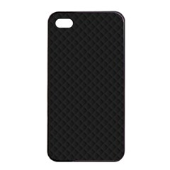 Sleek Black Stitched and Quilted Pattern Apple iPhone 4/4s Seamless Case (Black)