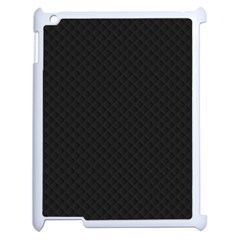 Sleek Black Stitched and Quilted Pattern Apple iPad 2 Case (White)