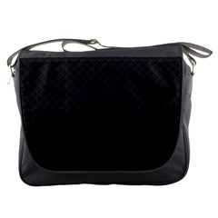 Sleek Black Stitched and Quilted Pattern Messenger Bags