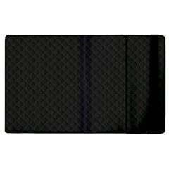 Sleek Black Stitched and Quilted Pattern Apple iPad 2 Flip Case