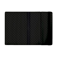 Sleek Black Stitched and Quilted Pattern Apple iPad Mini Flip Case