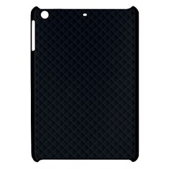 Sleek Black Stitched and Quilted Pattern Apple iPad Mini Hardshell Case