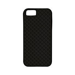 Sleek Black Stitched and Quilted Pattern Apple iPhone 5 Classic Hardshell Case (PC+Silicone)
