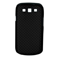 Sleek Black Stitched and Quilted Pattern Samsung Galaxy S III Classic Hardshell Case (PC+Silicone)