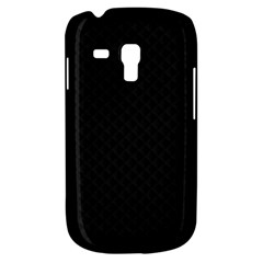 Sleek Black Stitched and Quilted Pattern Galaxy S3 Mini