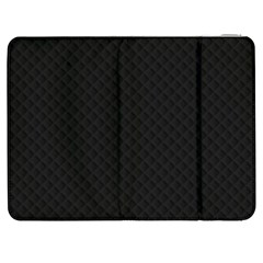 Sleek Black Stitched And Quilted Pattern Samsung Galaxy Tab 7  P1000 Flip Case