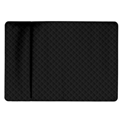 Sleek Black Stitched and Quilted Pattern Samsung Galaxy Tab 10.1  P7500 Flip Case