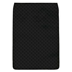 Sleek Black Stitched and Quilted Pattern Flap Covers (L)
