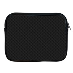Sleek Black Stitched and Quilted Pattern Apple iPad 2/3/4 Zipper Cases