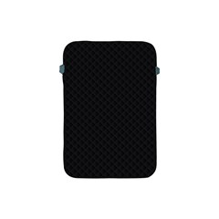 Sleek Black Stitched and Quilted Pattern Apple iPad Mini Protective Soft Cases