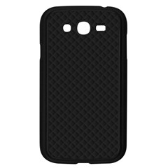 Sleek Black Stitched and Quilted Pattern Samsung Galaxy Grand DUOS I9082 Case (Black)