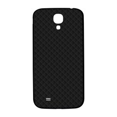 Sleek Black Stitched and Quilted Pattern Samsung Galaxy S4 I9500/I9505  Hardshell Back Case