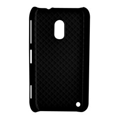 Sleek Black Stitched and Quilted Pattern Nokia Lumia 620