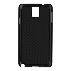 Sleek Black Stitched and Quilted Pattern Samsung Galaxy Note 3 N9005 Case (Black)