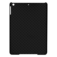 Sleek Black Stitched and Quilted Pattern iPad Air Hardshell Cases
