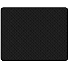 Sleek Black Stitched and Quilted Pattern Double Sided Fleece Blanket (Medium)