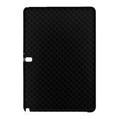 Sleek Black Stitched and Quilted Pattern Samsung Galaxy Tab Pro 12.2 Hardshell Case